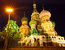Str.-Basilikumkathedrale auf rotem Quadrat in Moskau Stockfotografie