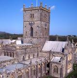 Str. davids Kathedrale pembrokeshire stockbild
