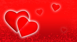 Str. Hintergrund des Valentinsgruß-Tages. Stockfotografie
