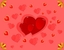 Str. Inneres des Valentinsgrußes Stockbild