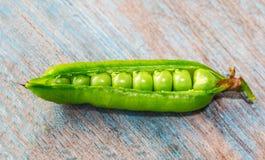 Strąk zieleni grochy Zdjęcie Royalty Free
