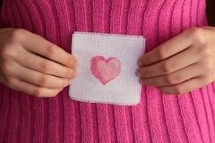 Str. Karte des Valentinsgrußes Stockbild
