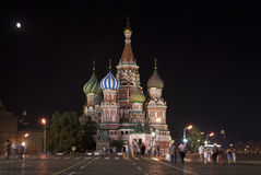 Str. Kathedrale des Basilikums auf rotem Quadrat. Lizenzfreies Stockfoto