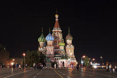 Str. Kathedrale des Basilikums auf rotem Quadrat. Lizenzfreie Stockbilder
