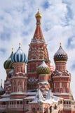 Str. Kathedrale des Basilikums auf rotem Quadrat in Moskau Lizenzfreies Stockfoto