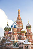 Str. Kathedrale des Basilikums im Winter, Moskau Lizenzfreie Stockfotos