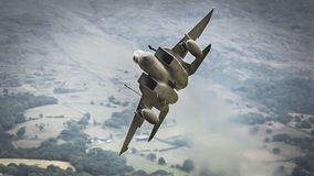 Str?lflygplan f?r F15 Eagle arkivfoto
