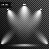 Str?lkastarebelysning, ljust ljus, etapp, genomskinlig podiumvektor arkivfoto