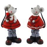 Str. Mädchen des Valentinsgrußes Mäuse Stockfotos