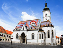 Str. markiert Kirche, Zagreb lizenzfreie stockbilder