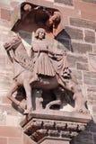 Str. Martin, Basel-Kathedrale, die Schweiz Lizenzfreies Stockfoto