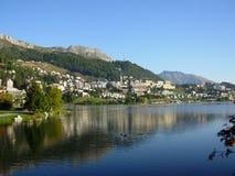 Str. Moritz die Schweiz Lizenzfreies Stockfoto