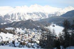Str. Moritz im Winter Lizenzfreie Stockbilder