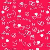 Str. Nahtloses Muster des Valentinstags stock abbildung