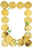 Str. patricks Tagesmünzen stockbild