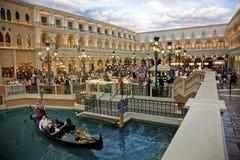 Str. Quadratisches venetianisches Hotel der Markierung Stockfotos