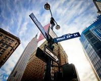 Str. und Broadway NYCS 34. Stockfotos