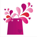 Str.-Valentinstag-Einkaufstasche lizenzfreie abbildung