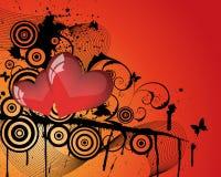 Str. Valentinstagkarte Stockbild