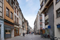 Straßburg, Frankreich - 3. Mai 2016: Schöne alte Stadt von Strasbour Lizenzfreie Stockfotografie