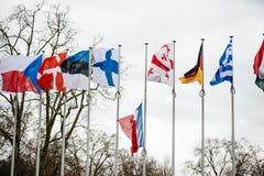 Straßburg hält Mahnwache für die, die in Paris-Angriff getötet werden Lizenzfreies Stockbild