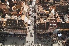 Straßburg-Häuser frankreich Stockbild