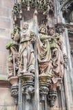 Straßburg-Kathedrale, Elsass, Frankreich Lizenzfreies Stockfoto