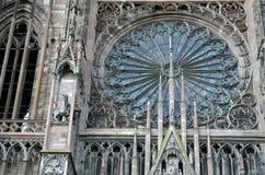 Straßburg-Kathedralendetails, Straßburg Frankreich lizenzfreie stockbilder