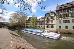Straßburg Petite France Stockbild