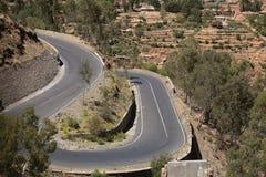 Straße in Äthiopien Lizenzfreie Stockfotos