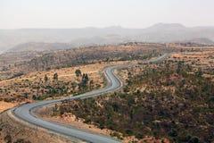 Straße in Äthiopien Stockbild