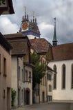 Straße in Aarau, die Schweiz Lizenzfreie Stockfotografie