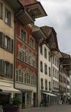 Straße in Aarau, die Schweiz Lizenzfreie Stockbilder