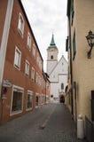 Straße in Abensberg Stockfotografie