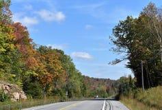 Straße Adirondack-Park-New York USA Stockfotografie