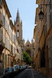Straße in Aix-en-Provence, Frankreich Lizenzfreie Stockbilder