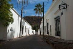 Straße in Alamos, Sonora, Mexiko Stockfotografie