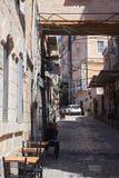 Straße in altem Jerusalem Stockbild