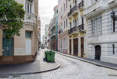 Straße in altem San Juan, Puerto Rico Lizenzfreies Stockbild