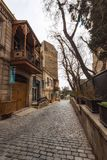 Straße alter Baku-Stadt Stockbild