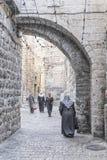 Straße in alter Stadt Israel Jerusalems Lizenzfreies Stockfoto