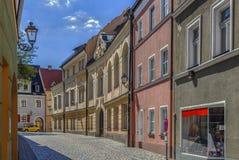 Straße in Amberg, Deutschland stockfotografie