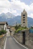 Straße in Aosta Stockbilder