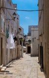 Straße in Apulien, Italien Stockbilder