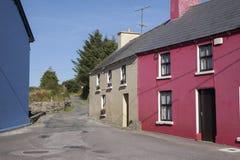 Straße in Ardgroom-Dorf; Beara-Halbinsel; Korken Lizenzfreie Stockfotografie