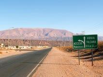 Straße in Argentinien Lizenzfreies Stockfoto