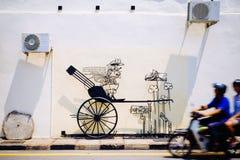 Straße Art Mural in Georgetown Stockfotografie