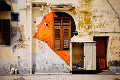 Straße Art Mural in Georgetown Lizenzfreies Stockbild