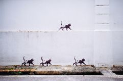 Straße Art Mural in Georgetown lizenzfreies stockfoto