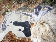 Straße Art Mural in Georgetown, Penang, Malaysia Stockfotografie